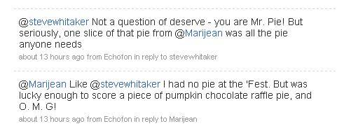 pie tweets