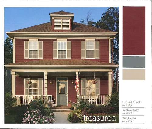 Red Brick House Color Schemes Car Interior Design